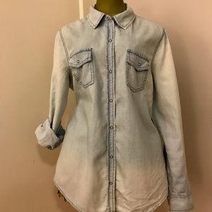Arizona Jean chambray shirt, Sz L